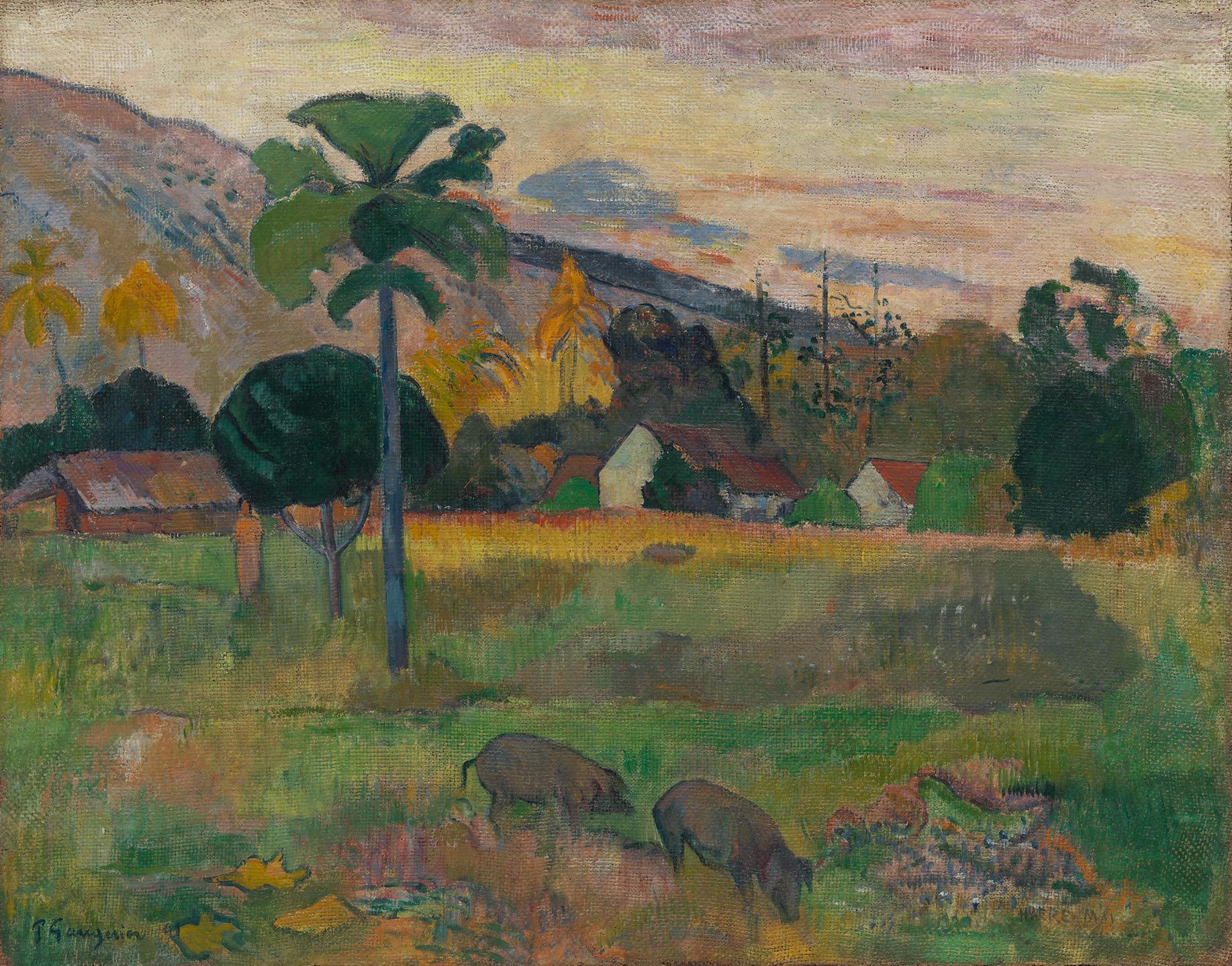 Paul Gauguin. Haere Mai , 1891. Olio su iuta
