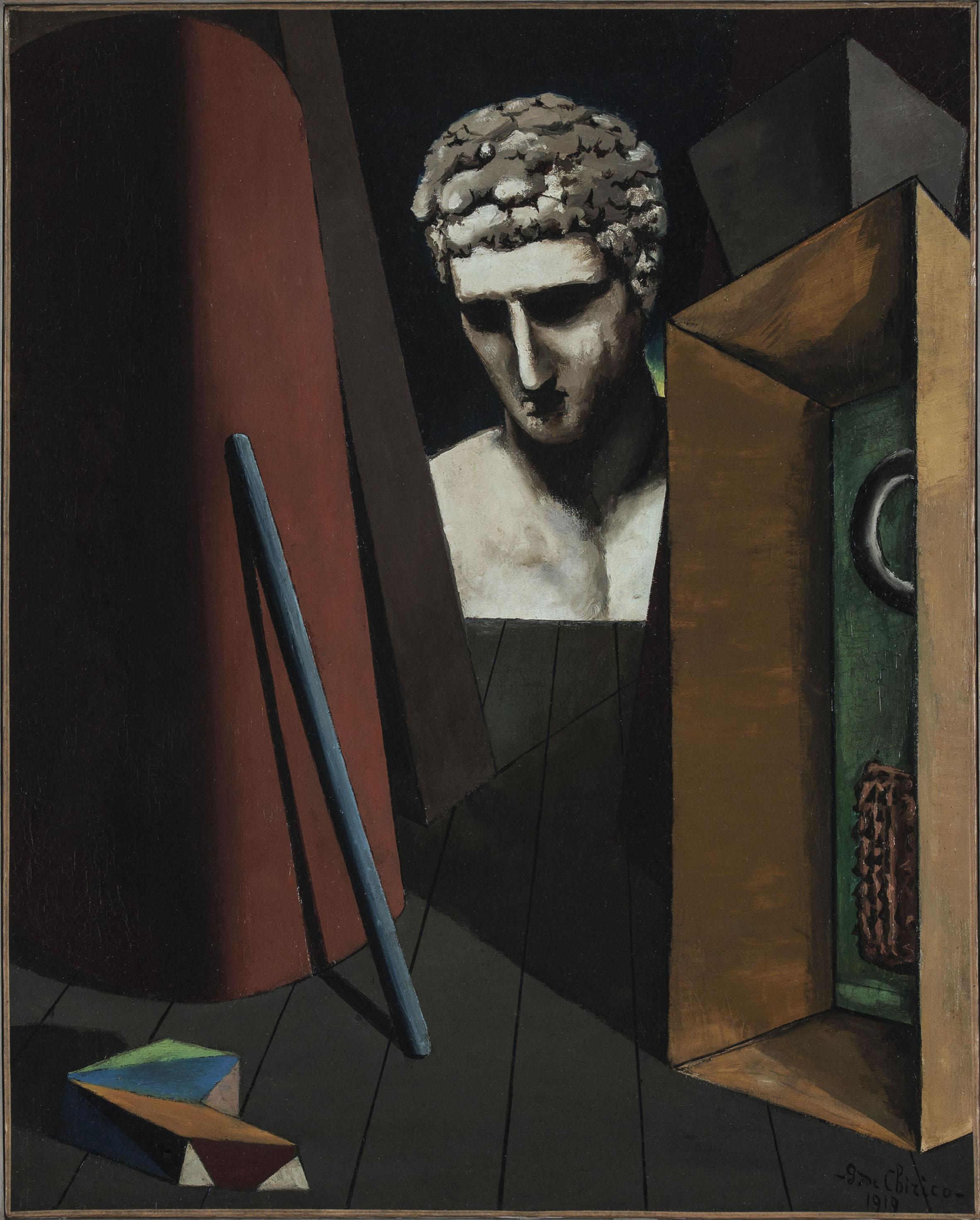 Giorgio de Chirico, Malinconia ermetica, 1919, Olio su tela, Musée d'Art Moderne de la Ville de Par