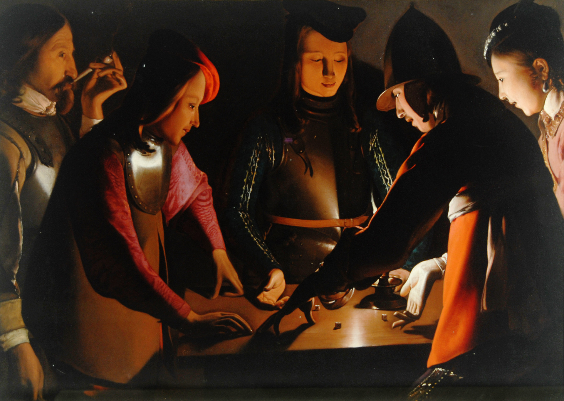 Georges de La Tour. I giocatori di dadi, 1650 - 1651, olio su tela 92.5 x 130.5 cm, Preston Park Museum and Grounds, Stockton-on-Tees, U.K.