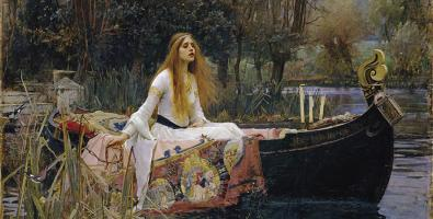 John William Waterhouse, La Dama di Shalott, 1888, Olio su tela